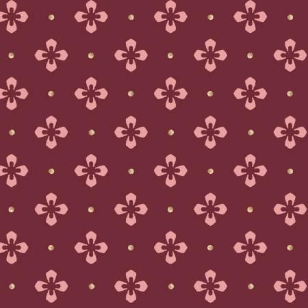 Burgundy Foulard Dot, 9366M-M