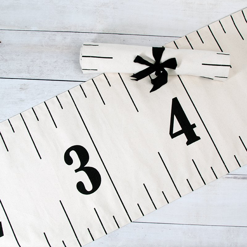 Measure Up Canvas Ruler Table Runner 16 x 72