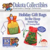 Holiday Gift Bags in the Hoop