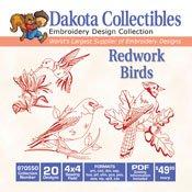 Redwork Birds