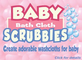 Baby Bath Cloth Scrubbies