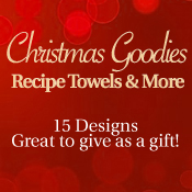 Christmas Goodies Recipe Towels & More