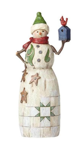Folklore Snowman with Birdhouse 4058769