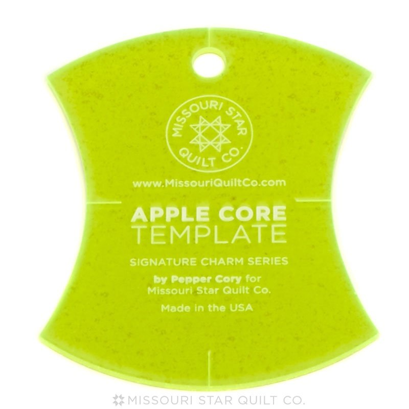 Large Apple Core, 9 3/4in, Template