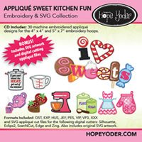 Applique Sweet Kitchen Fun