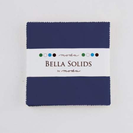 Bella Solids Charm Pack Blue