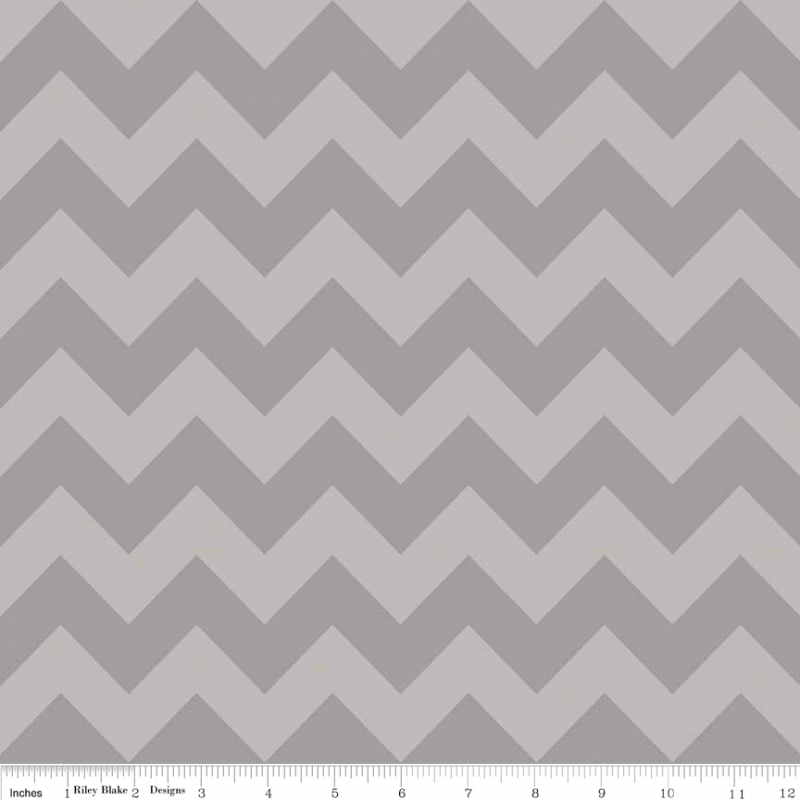 Medium Chevron Gray on Gray