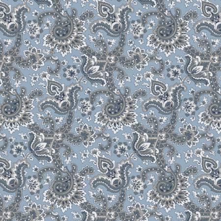 Charming Paisley Blue C6652-Blue