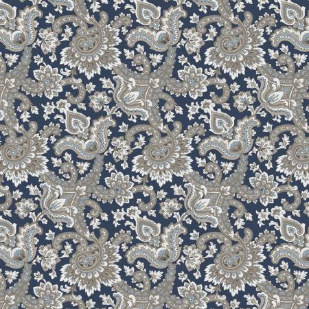 Charming Paisley Navy C6652
