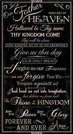 The Lord's Prayer Panel C6696-BLK