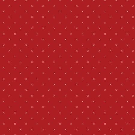 Bee Cross Stitch - Barn Red C745