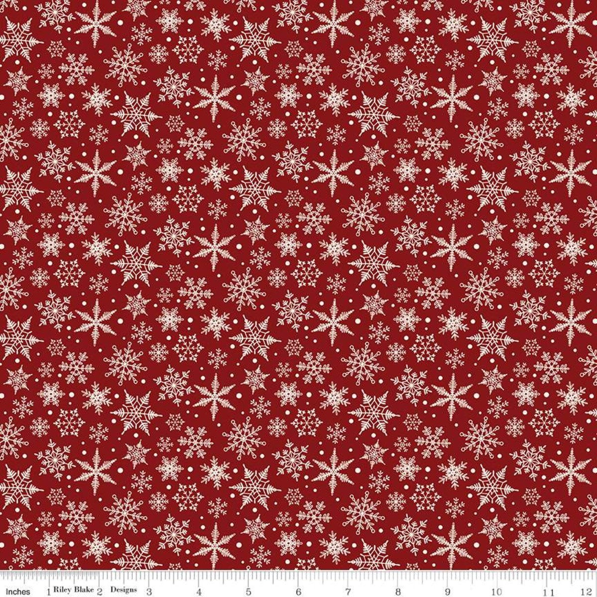 Christmas Traditions Snowflakes Red C9597-RED