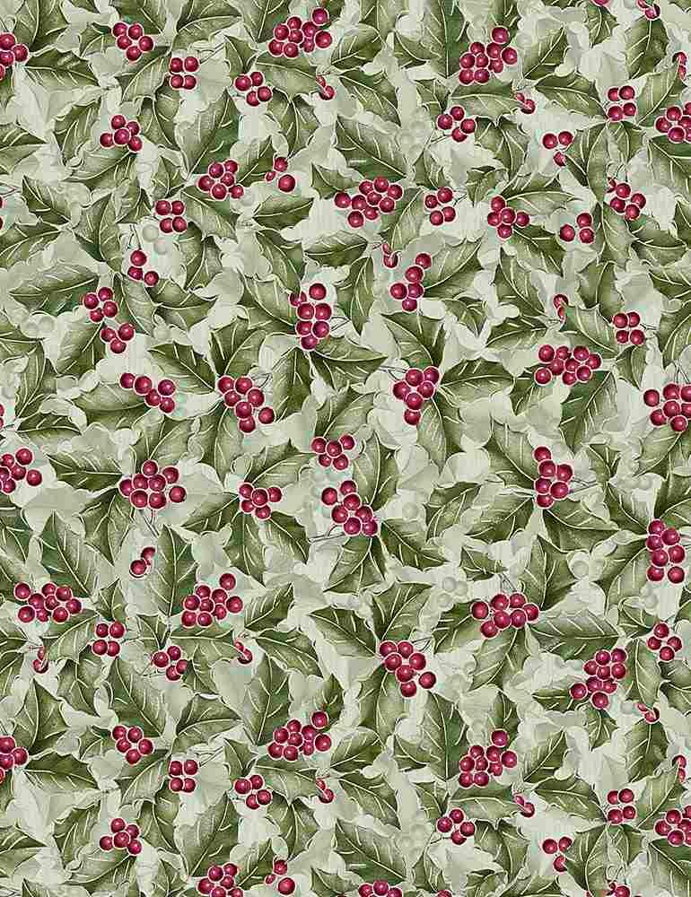 Noel Green Holly & Berries w/Metallic CM7761 GREEN