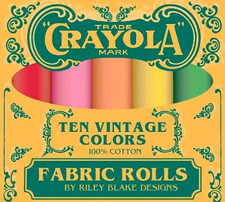 Confetti Cottons Vintage Crayola Fat Quarter Box 10 Pcs