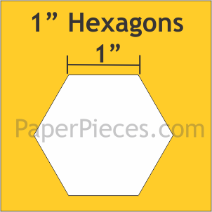 Paper Pieces 1 Inch Hexagon