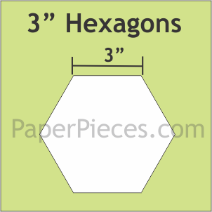 Paper Pieces 3 Inch Hexagon