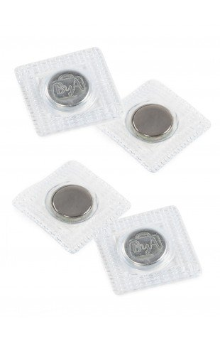 Magnetic Snap Set, Invisible, Sew-in - 14MM (5/8) - Nickle, Set of Two