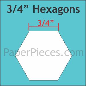 Paper Pieces 3/4 Hexagon HEX0755