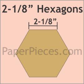 Paper Hexagons 2 1/8