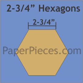 Paper Hexagons 2 3/4