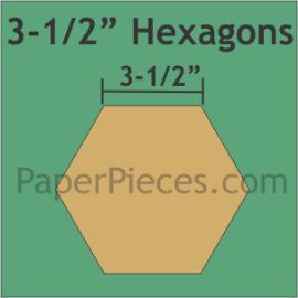 Paper Hexagons 3 1/2