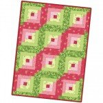 Sweet Pea Flannel Log Cabin Quilt