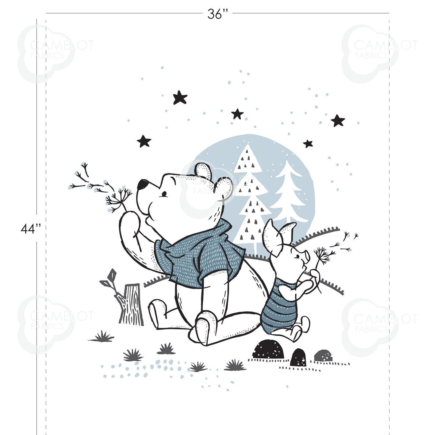 Wonder and Whimsy, Pooh & Piglet 85430412P-01 Panel