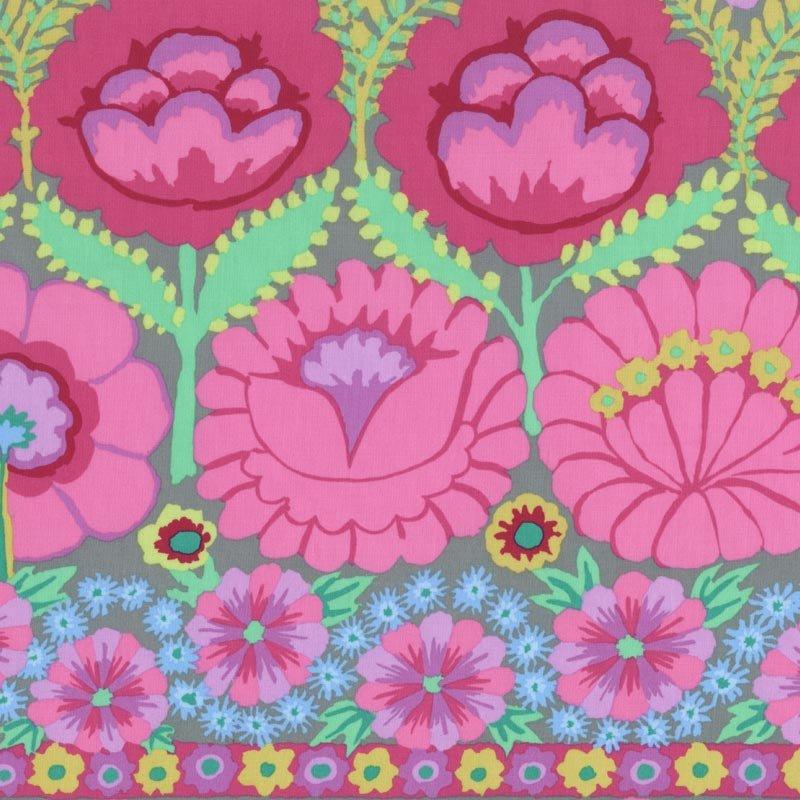 Kaffe Fassett - Artisan Embroidered Flower Border PWKF001.PINKX