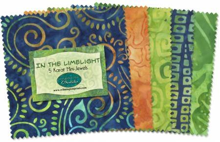 5in Squares In The Limelight Batik 24pcs