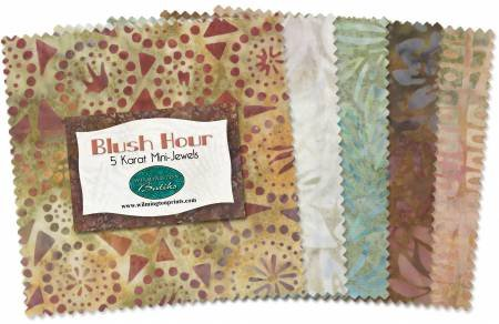 10in Squares Blush Hour Batik 24pcs