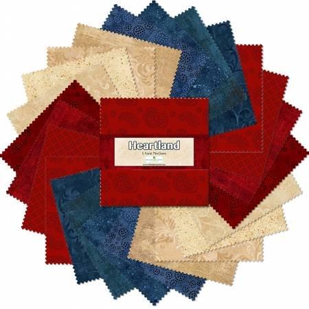 Heartland Essential Gems 5in Squares