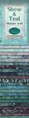 2-1/2in Strips Show & Teal Batik 24pcs