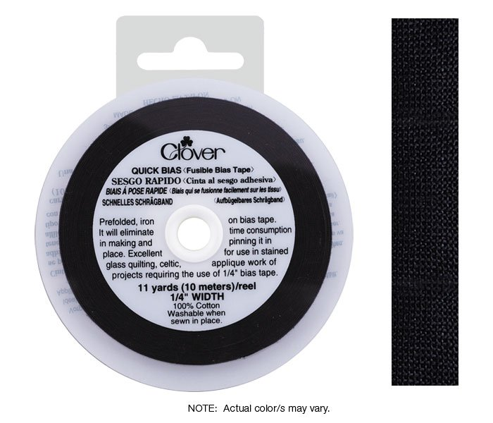 Clover Fusible Bias Tape 5 1/2 yd reel
