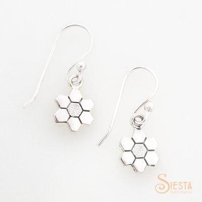 Sterling Silver Grandmother's Flower Garden Earrings on Hook