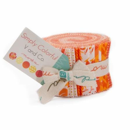 Simply Colorful Junior Jelly Roll Orange