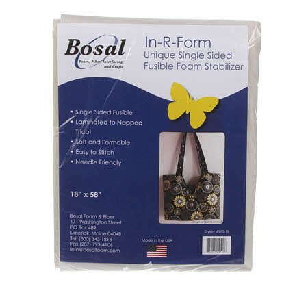In-R-Form Single Sided Fusible Foam Stabilizer Off White 58in x 18in