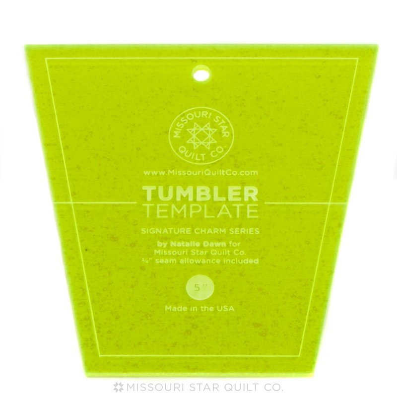 Small Tumbler Template for 5 Charm Packs