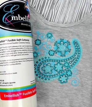 Embellish Fusible Soft Cutaway