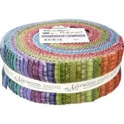 2 1/2 Strips Woolies Flannel Colors
