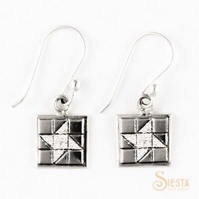 Sterling Silver Mini Friendship Star Earrings on Hook