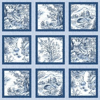 Woodland Forest Panel - Blue