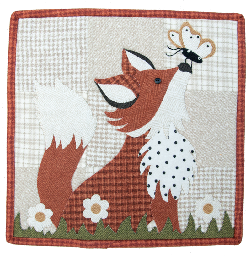Little Quilts Squared August - Frolicking Fox
