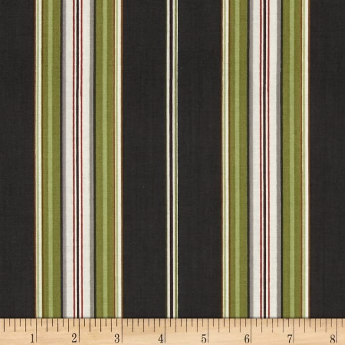 Avignon - Awning Stripe - Black