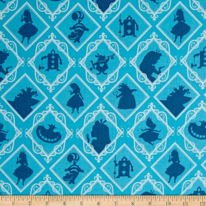 Alice in Wonderland - Frames - Blue