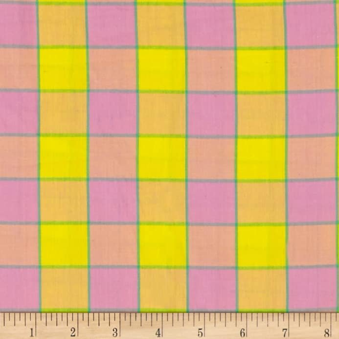 Artisan - Checkerboard Plaid Ikat - Pink