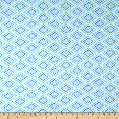 Humming Along Diamond Geometric Blue