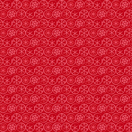 Heart & Home Flake Dot Red