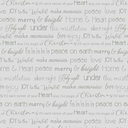 Heart & Home Merry & Bright Words Lt. Gray