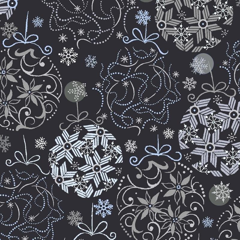 Blue Holidays Bulbs Black