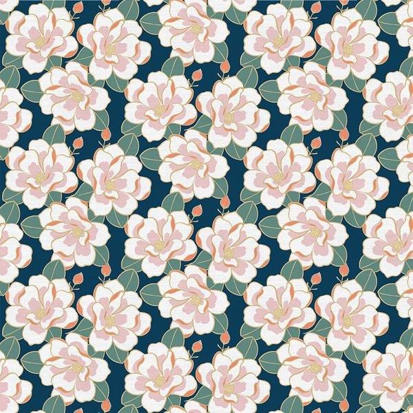 Magnolia Wonderland Floral Navy